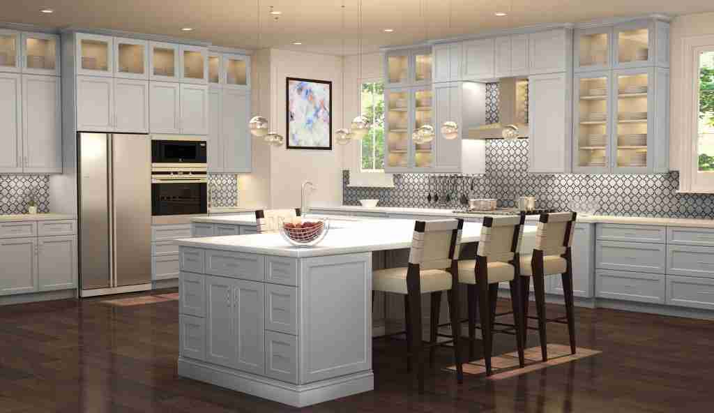 Cubitac Cabinetry White Cabinets in Kitchen with Countertop