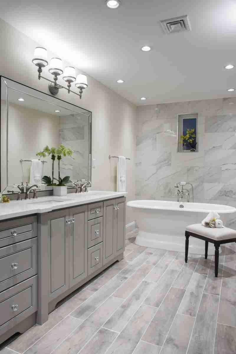 J&K Cabinetry Greige Bathroom Large View