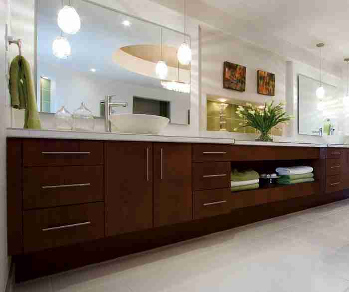 UltraCraft Cabinetry Contemporary Cherry Bathroom Cabinet