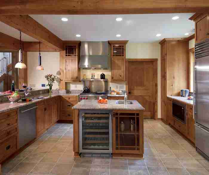 UltraCraft Cabinetry Knotty Alder Kitchen Cabinet in Natural