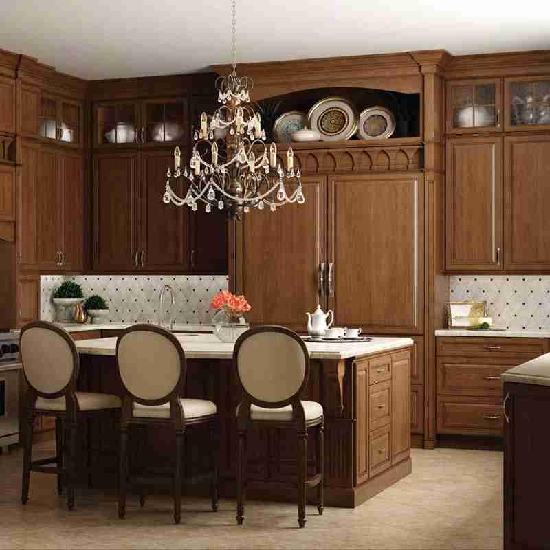 Woodland Cabinetry Formal Alder Kitchen Cabinets