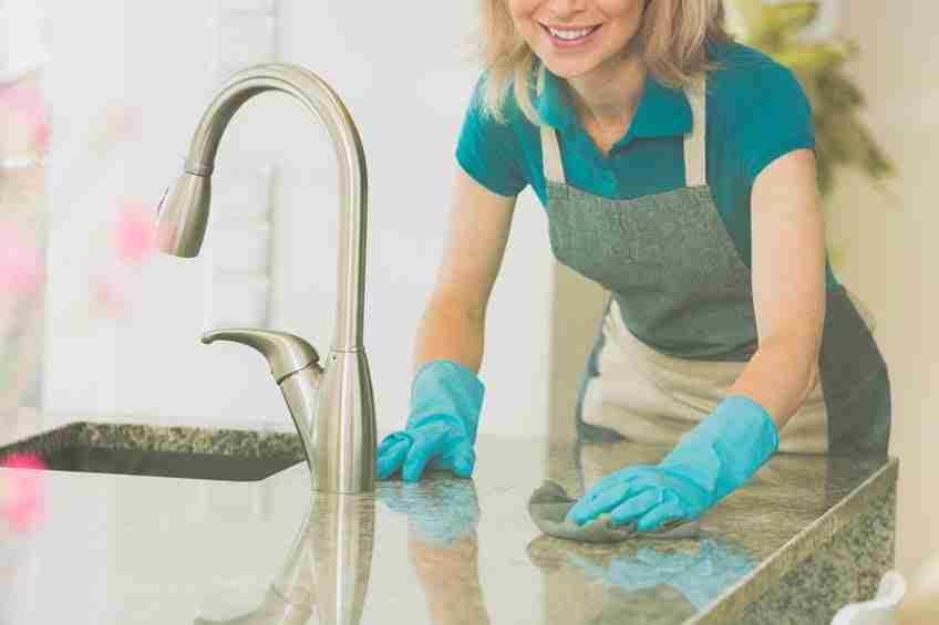 cleaning countertop surfaces