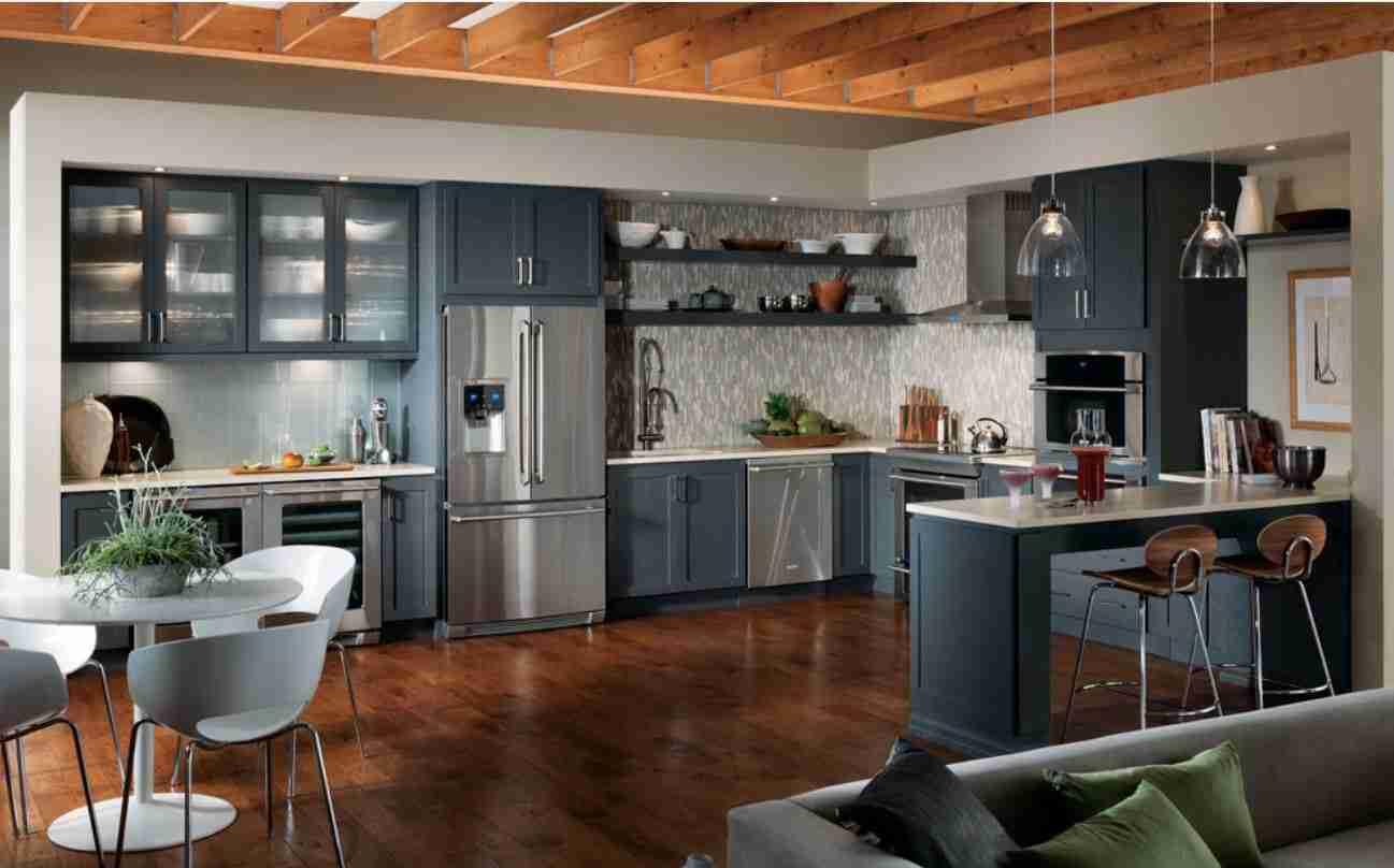 Starmark Cabinetry Gray Kitchen Cabinet Medium View